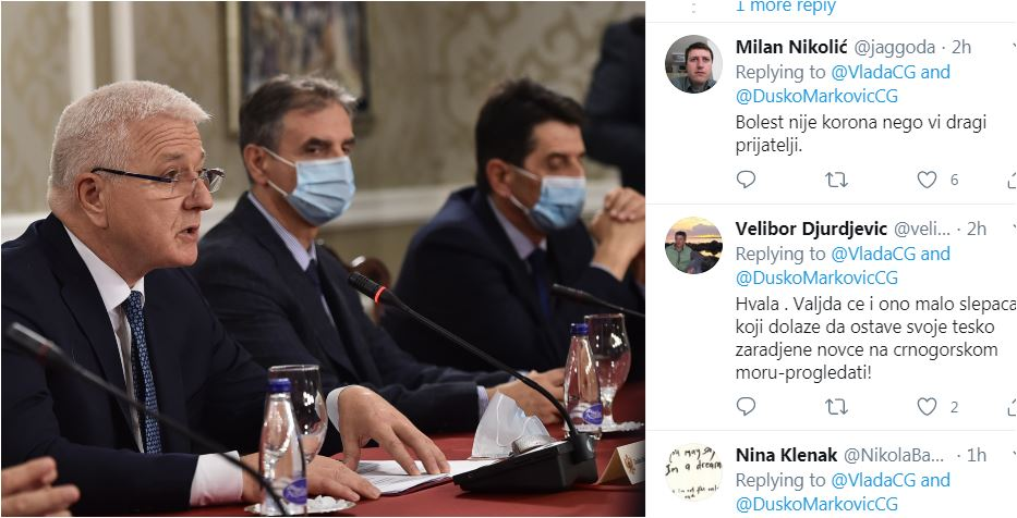 """Photo of TVITER KLJUČA: Tviteraši odgovaraju Vladi CG: """"Koju drogu uzimate? Pecaćete ribu na kraju sezone"""" (FOTO)"""