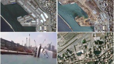 Photo of OD SILINE UDARA SE PREVRNUO I KRUZER: Satelitski snimci pokazuju razmjere katastrofe u Bejrutu