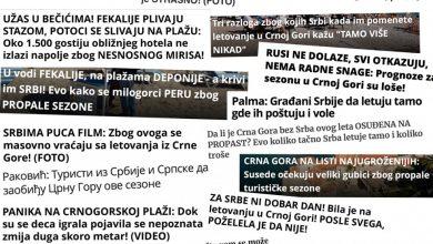 Photo of Za godinu više od 10 hiljada objava o Crnoj Gori u sprskim medijima