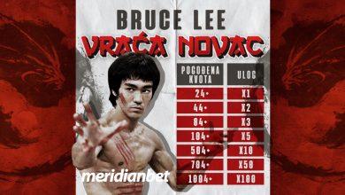 Photo of Novo u sportskoj kladionici Meridian: Bruce Lee money back!