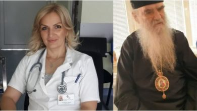 """Photo of """"AKO ME TI NE IZLIJEČIŠ, BOG ĆE URADITI OSTALO"""" Doktorka Jelena, koja je liječila Amfilohija, danas je došla da se oprosti od njega"""